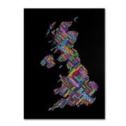 "Trademark Fine Art 'United Kingdom VII' 14"" x 19"" Canvas Art"