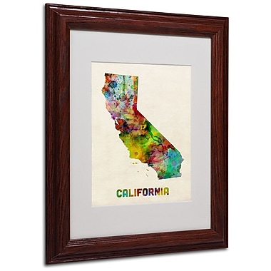 Trademark Fine Art 'California Map' 11