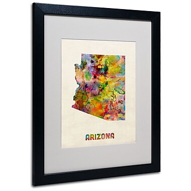 Trademark Fine Art 'Arizona Map' 16