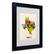 Trademark Fine Art 'Texas Map'