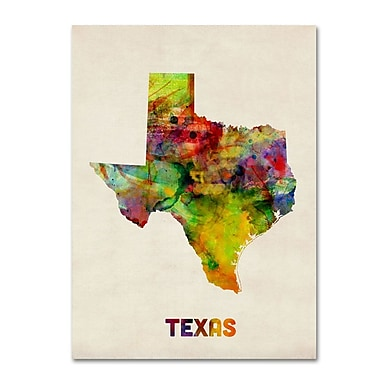Trademark Fine Art 'Texas Map' 18