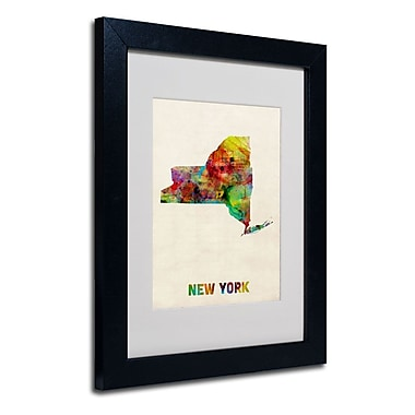 Trademark Fine Art 'New York Map' 11