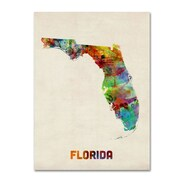 "Trademark Fine Art 'Florida Map' 35"" x 47"" Canvas Art"