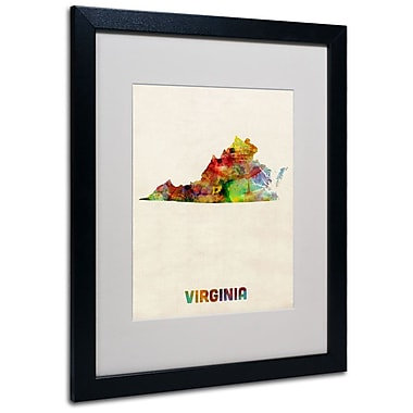 Trademark Fine Art 'Virginia Map' 16