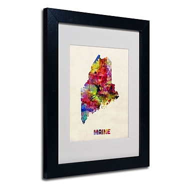 Trademark Fine Art 'Maine Map'