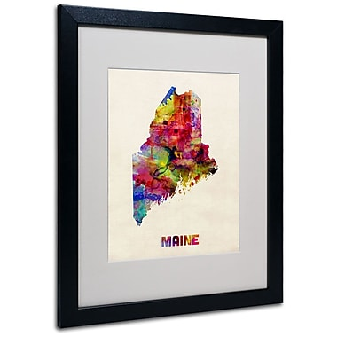 Trademark Fine Art 'Maine Map' 16