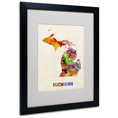 Trademark Fine Art 'Michigan Map' 16