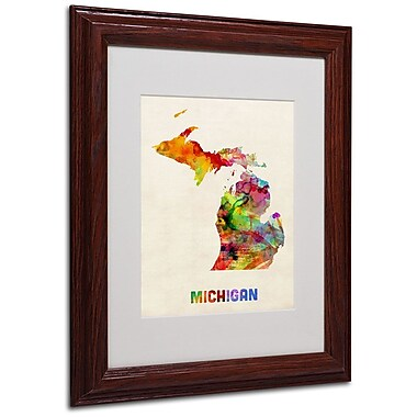 Trademark Fine Art 'Michigan Map' 11