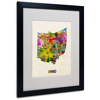 Trademark Fine Art 'Ohio Map' 16