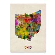"Trademark Fine Art 'Ohio Map' 35"" x 47"" Canvas Art"