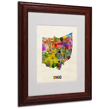 Trademark Fine Art 'Ohio Map' 11