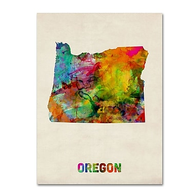 Trademark Fine Art 'Oregon Map' 35