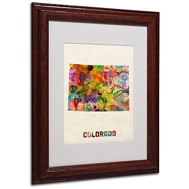 Trademark Fine Art 'Colorado Map' 11