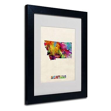 Trademark Fine Art 'Montana Map'