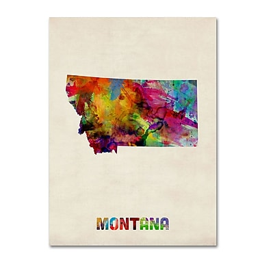 Trademark Fine Art 'Montana Map' 14