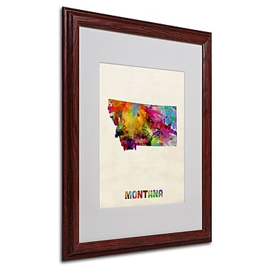 Trademark Fine Art 'Montana Map' 16