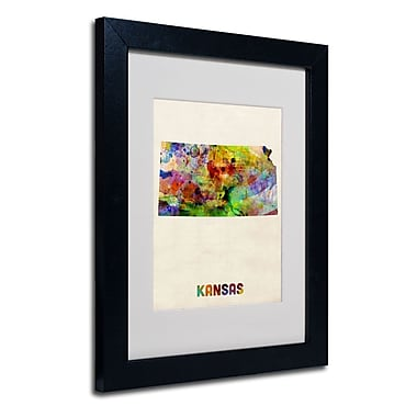 Trademark Fine Art 'Kansas Map'