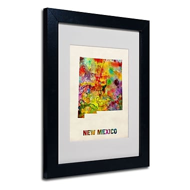 Trademark Fine Art 'New Mexico Map'