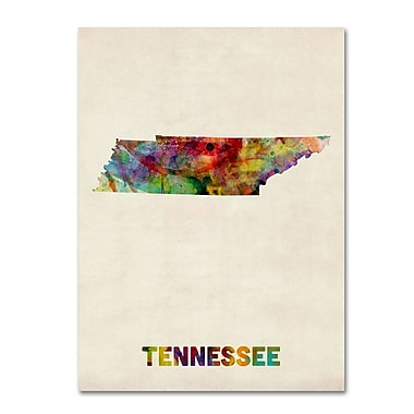 Trademark Fine Art 'Tennessee Map' 14