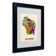 Trademark Fine Art 'Wisconsin Map'