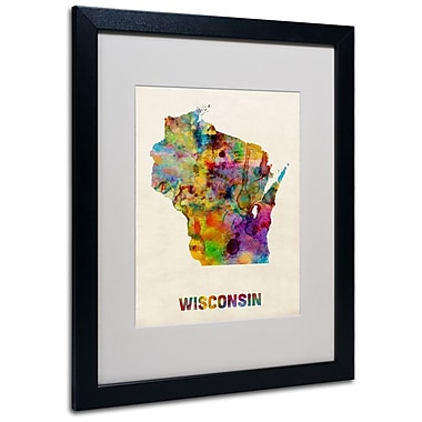 Trademark Fine Art 'Wisconsin Map' 16