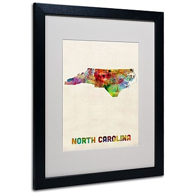 Trademark Fine Art 'North Carolina Map' 16