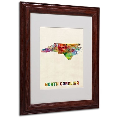 Trademark Fine Art 'North Carolina Map' 11