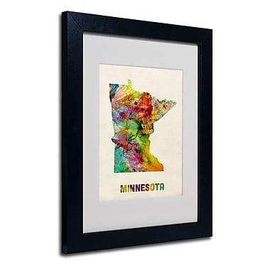 Trademark Fine Art 'Minnesota Map' 11