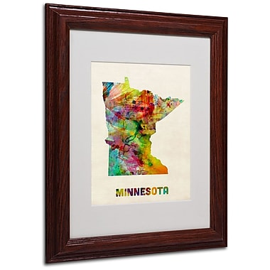 Trademark Fine Art 'Minnesota Map' 11