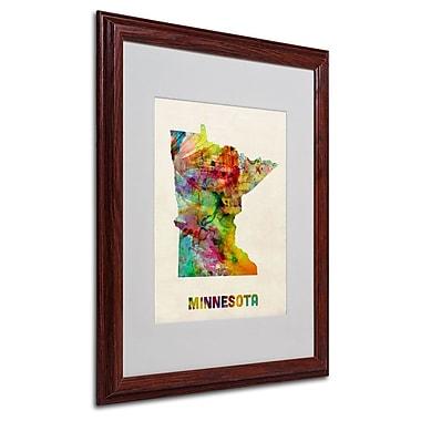 Trademark Fine Art 'Minnesota Map' 16
