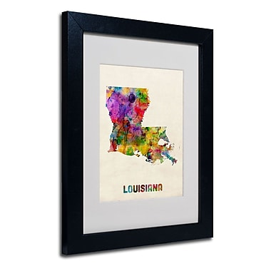 Trademark Fine Art 'Louisiana Map'
