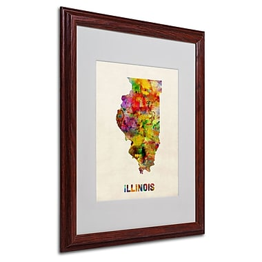 Trademark Fine Art 'Illinois Map' 16
