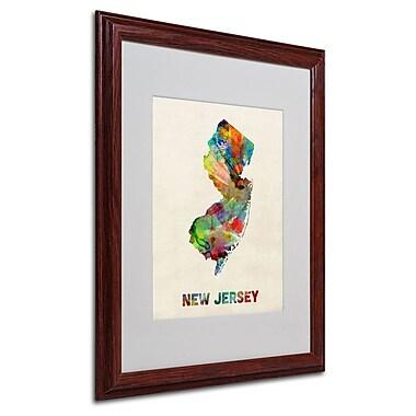 Trademark Fine Art 'New Jersey Map' 16