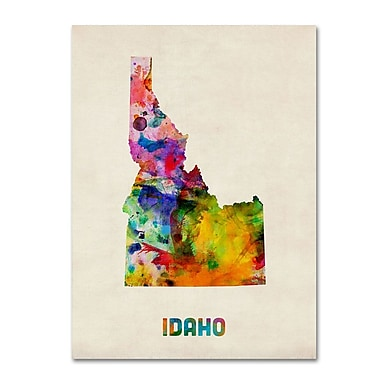Trademark Fine Art 'Idaho Map' 18
