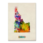"Trademark Fine Art 'Idaho Map' 14"" x 19"" Canvas Art"