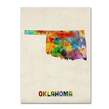 Trademark Fine Art 'Oklahoma Map' 14