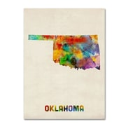 "Trademark Fine Art 'Oklahoma Map' 24"" x 32"" Canvas Art"