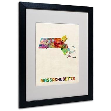Trademark Fine Art 'Massachusetts Map' 16