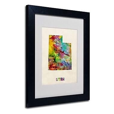 Trademark Fine Art 'Utah Map'