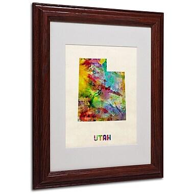 Trademark Fine Art 'Utah Map' 11