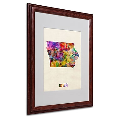 Trademark Fine Art 'Iowa Map' 16