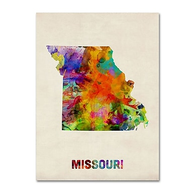 Trademark Fine Art 'Missouri Map' 14