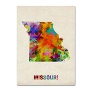 "Trademark Fine Art 'Missouri Map' 14"" x 19"" Canvas Art"