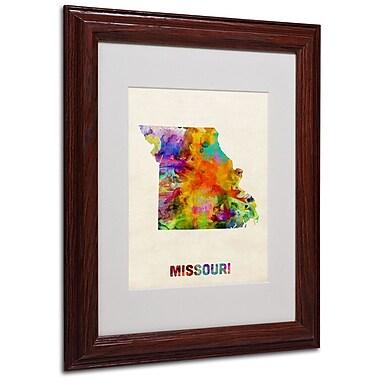 Trademark Fine Art 'Missouri Map' 11