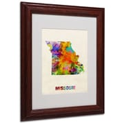 "Trademark Fine Art 'Missouri Map' 11"" x 14"" Wood Frame Art"