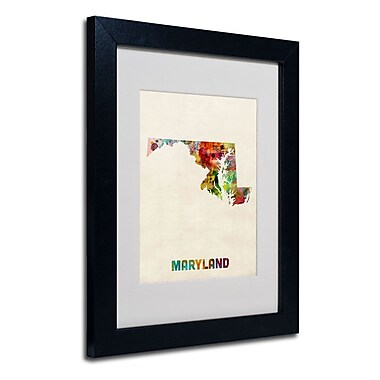 Trademark Fine Art 'Maryland Map'