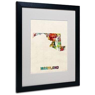 Trademark Fine Art 'Maryland Map' 16