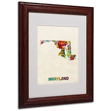 Trademark Fine Art 'Maryland Map' 11