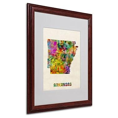 Trademark Fine Art 'Arkansas Map' 16
