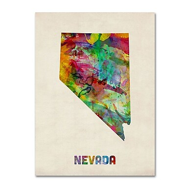 Trademark Fine Art 'Nevada Map' 24